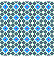 seamless ornament of squares of blue and green vector image vector image