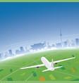 seoul skyline flight destination vector image vector image
