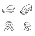set of icons for mobile virtual reality vector image