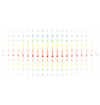 shovel spectrum halftone pattern vector image
