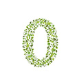 Spring green leaves eco number 0 vector image