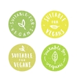 suitable for vegans set vegan hand drawn vector image vector image