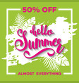 summer sale background with tropical palm leaves 6 vector image vector image