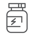 supplement line icon protein and container vector image
