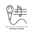 talent for singing linear icon vector image