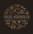 taxi service concept round linear vector image vector image