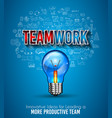 teamwork borchure template with hand drawn vector image vector image