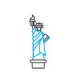 the statue of liberty linear icon concept the vector image