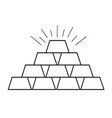thin line gold icon design vector image