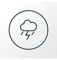thunderstorm icon line symbol premium quality vector image