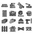 timber industry icon set vector image vector image