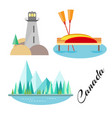 tourist attraction of canada vector image