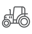tractor line icon farm and agriculture vehicle vector image vector image
