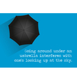 Umbrella Quote vector image vector image