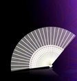white-golden fan vector image vector image