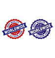 world best quality stamp with distress style vector image