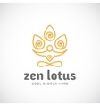 Zen Lotus Abstract Linear Style Logo vector image vector image