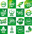 large set of logos eco vector image