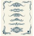 Vintage calligraphic floral design elements vector image