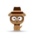 lovely hipster puppy dog vector image
