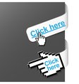 2 right side signs - click here vector image