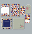 a set of cards and tags with a geometric pattern vector image