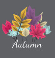 abstract background with falling autumn leaves vector image vector image