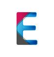 abstract letter e logo design vector image vector image