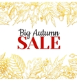 autumn sale gold banner with leaves