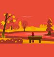 autumn scene vector image vector image
