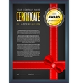 Black certificate design vector image vector image