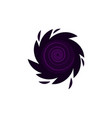 black hole icon isolated vector image vector image