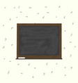 blackboard background and wooden frame rubbed out vector image vector image