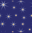 blue and white christmas stars seamless pattern vector image vector image