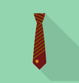 brown tie icon flat style vector image vector image