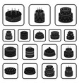 cake and dessert black icons in set collection for vector image vector image