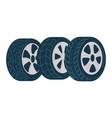 car tyre shop or mechanics center fixing service vector image