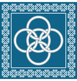Celtic Five Fold knot symbolizes four elements vector image