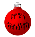 Christmas ball with children silhouettes vector image vector image