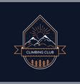 climbing logo design vector image vector image