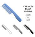 comb for hairbarbershop single icon in cartoon vector image vector image