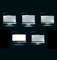 computer display vector image vector image