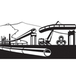 Construction of industrial pipelines vector image vector image