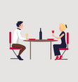 couple dining together on vector image