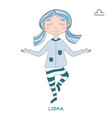 cute girl in the form of zodiac sign libra vector image