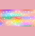 cute universe background in fairy princess colors vector image vector image