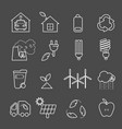 eco icons set thin line ecological signs for vector image vector image