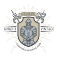 emblem of the middle ages vector image