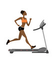 fashion african american girl running vector image vector image