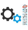 Gears Icon With Free Bonus vector image vector image